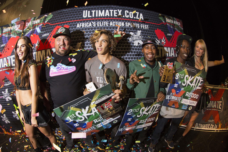 Ultimate X 2017 Skateboarding Podium