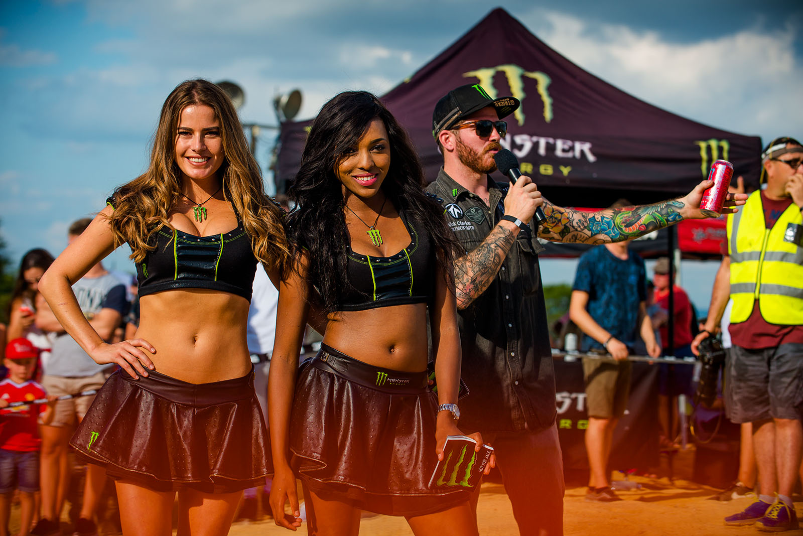 The gorgeous Monster Energy girls and Nick Clarke