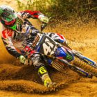 Tristan Purdon racing his way to victory at Round 1 of the SA MX Nationals