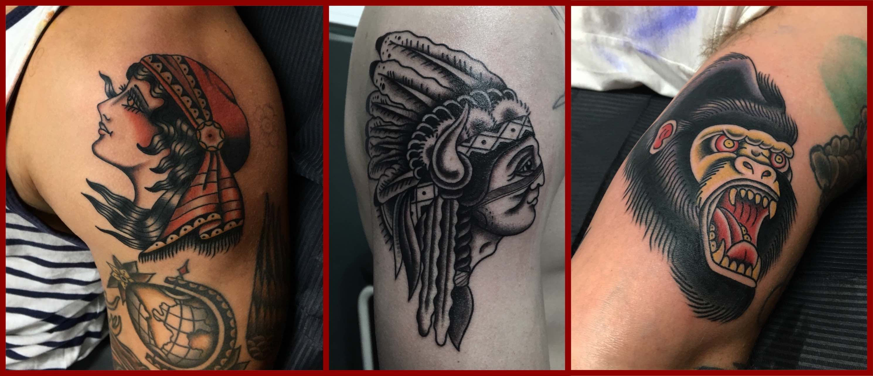 A selection of Tattoos done by Wesley von Blerk