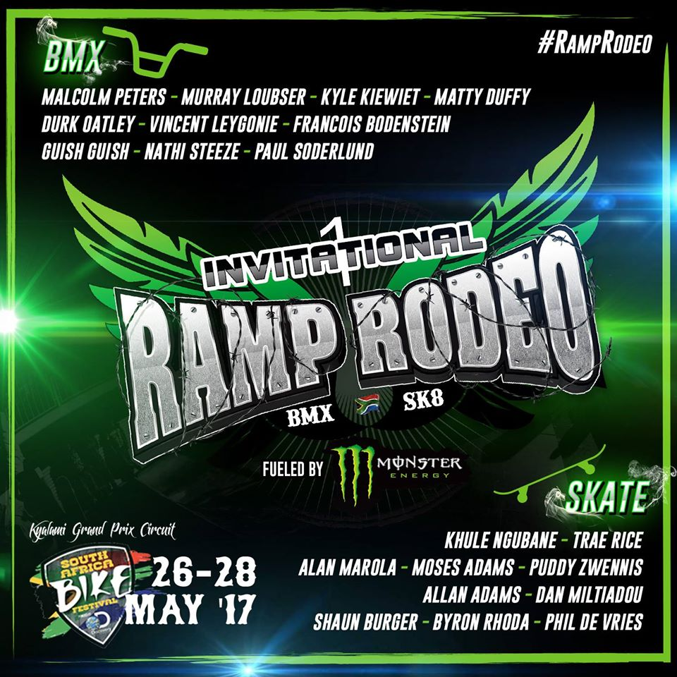 Ramp Rodeo invited BMX riders and Skateboarders