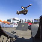 Alan Marola skateboarding his way to victory at the Ramp Rodeo Invitational 1