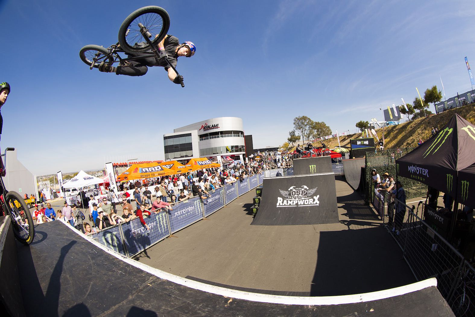 Murray Loubser riding his way to victory at the Ramp Rodeo Invitational 1 BMX contest