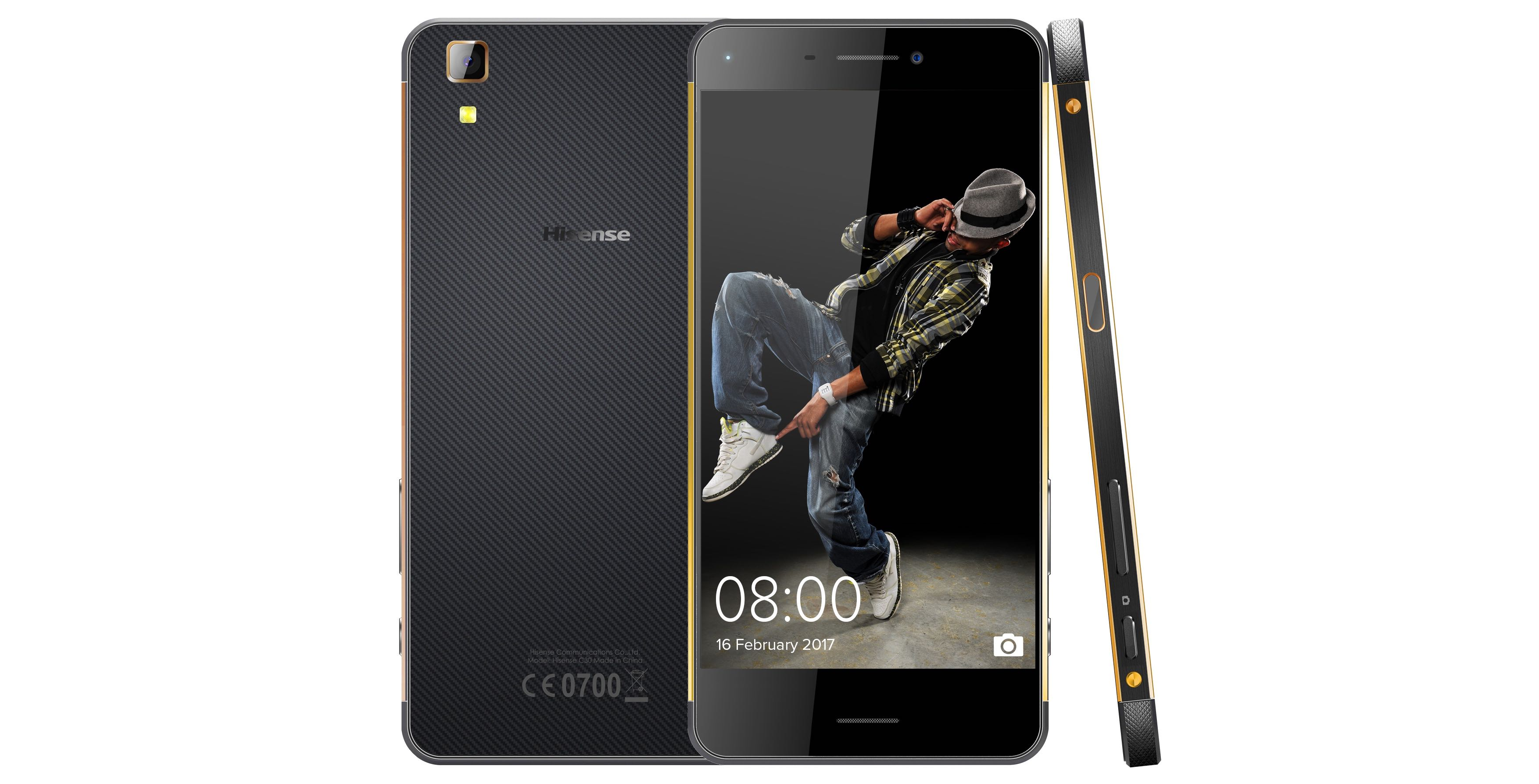 Product feature on the Hisense C30 Rock Smartphone