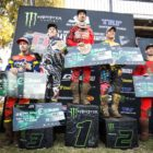 MX1 podium from Round 4 of the SA MX Nationals from Dirt Bronco