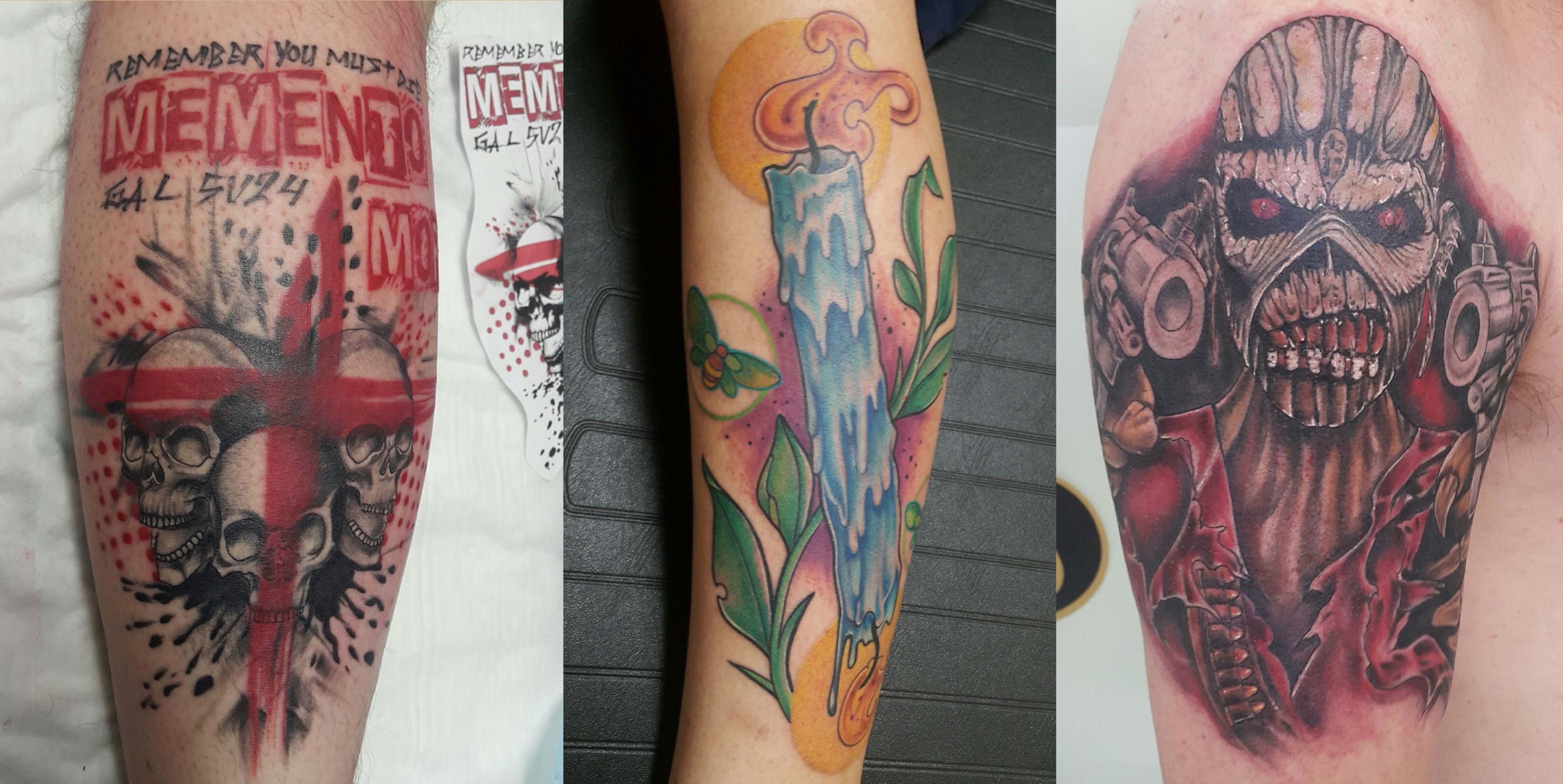 A selection of tattoos down by Rudi Rautenbach