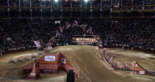 Levi Sherwood n top of the Freestyle Motocross world by willing the 2017 Red Bull X-Fighters Madrid