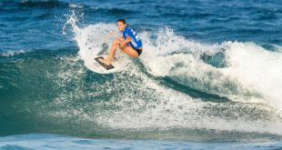 Sophia Fulton surfing her way to victory at the 2017 allito Women's Pro