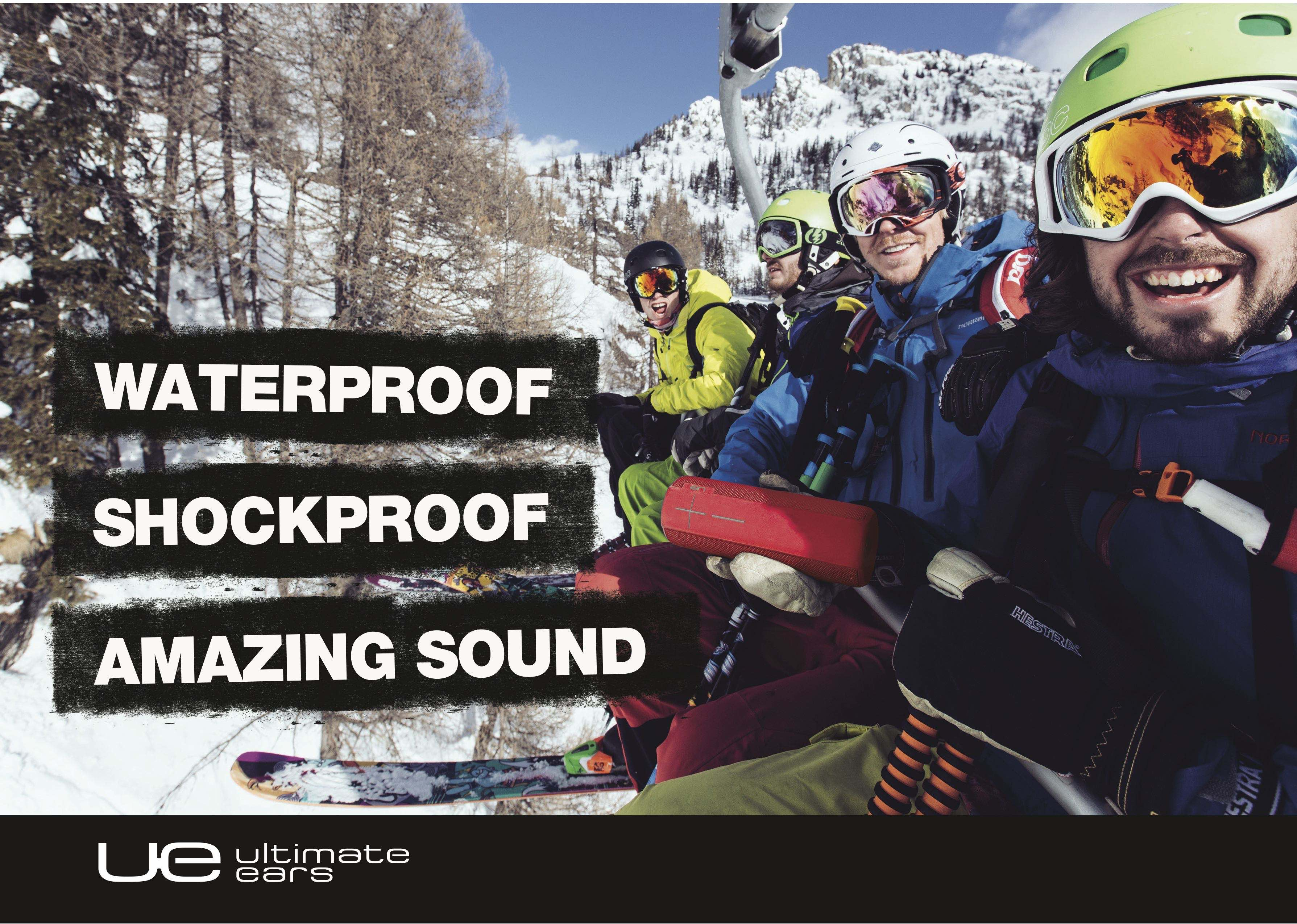 LW Mag and Winter Whip partners with Ultimate Ears for its 2017 Snowboarding and Skiing slopestyle event.