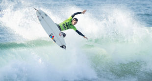 Jordy Smith of South Africa advances to Round Four of The Ballito Pro surfing contest