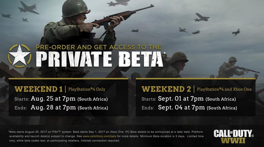 Be among the first in the world to get your hands on the Call of Duty: WWII Multiplayer Private Beta
