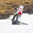 Kevin Hingst snowboarding at the 2017 Ultimate Ears Winter Whip