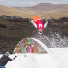 JTK Backflipping his way to victory in the Ultimate Ears Winter Whip Skiing division