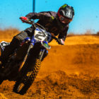 David Goosen racing his way to victory at the penultimate round of the 2017 MX Nationals