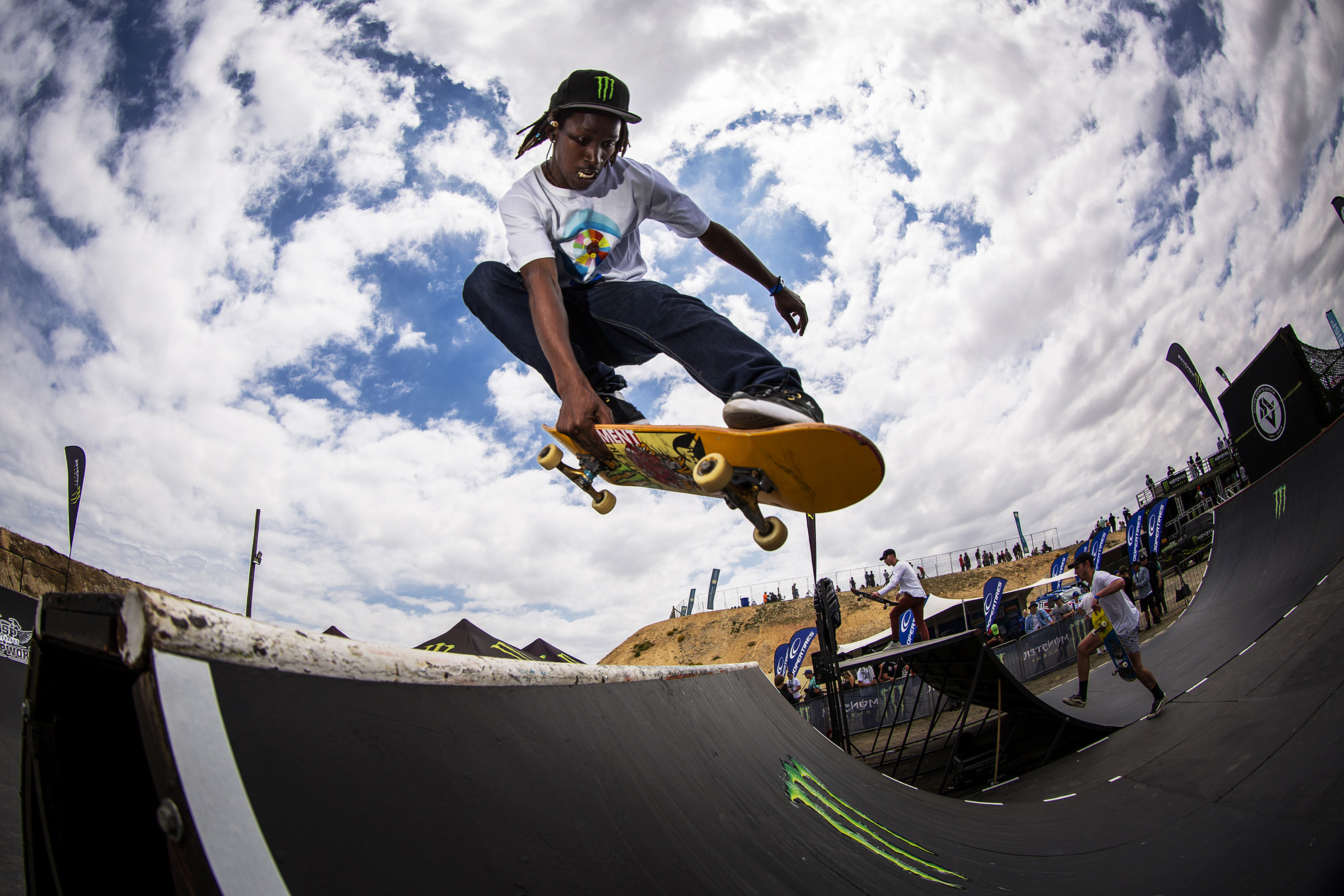 Khule Ngubane skateboarding his way to 2nd place at stop 2 of the Ramp Rodeo