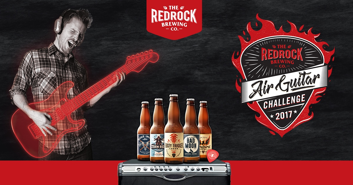 Enter the RedRock Brewing Company Air Guitar Challenge 2017