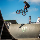 Malcolm Peters riding his way to 2nd place in the BMX final at stop 2 of the Ramp Rodeo