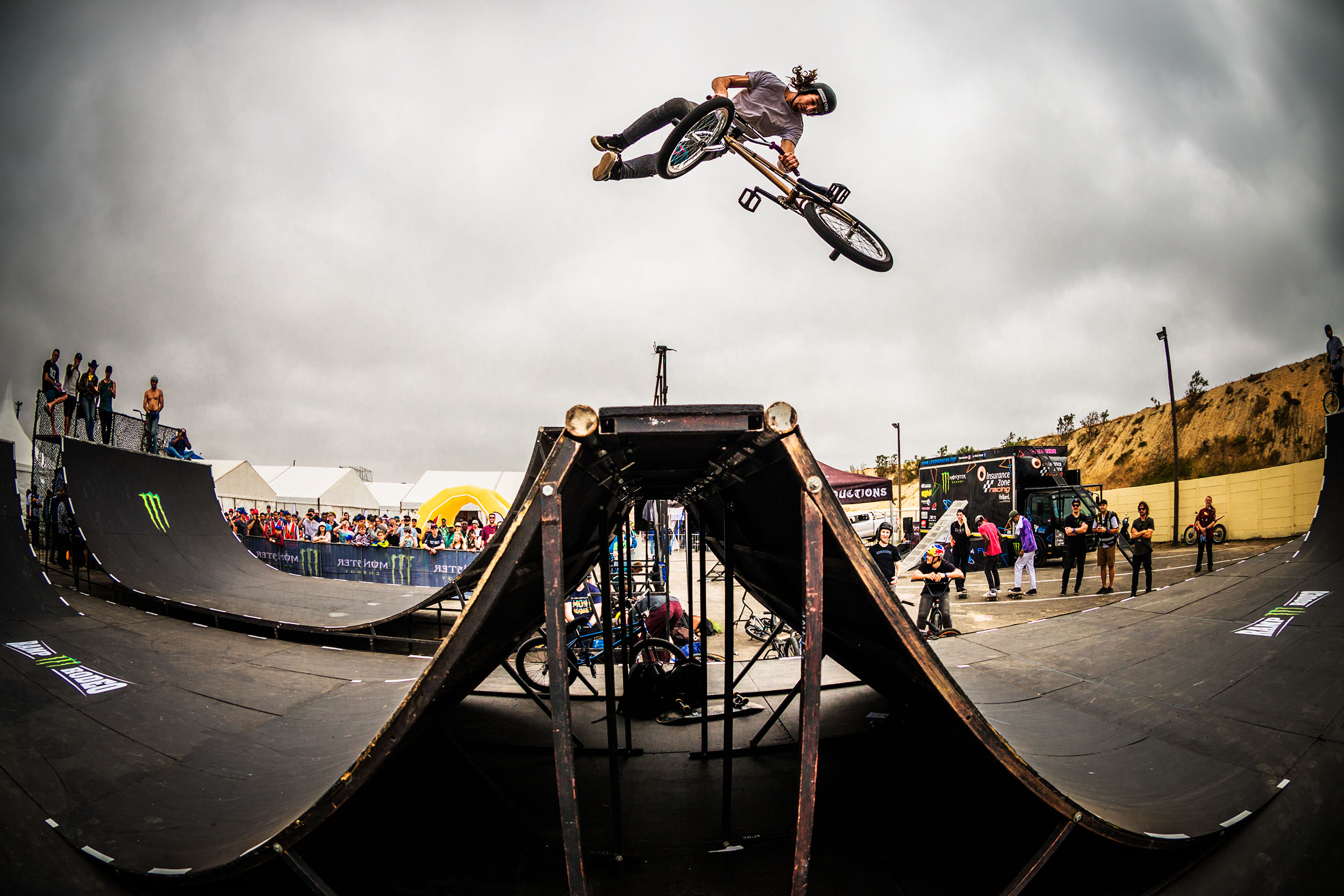 Vincent Leygonie riding his way to victory in the BMX final at stop 2 of the Ramp Rodeo