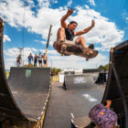 Puddy Zwennis taking 3rd place at the Ramp Rodeo Skateboarding contest