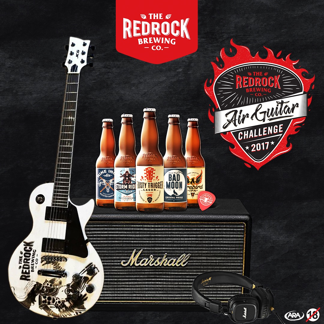Stand a chance of winning R50000 in prizes in The RedRock Brewing Company Air Guitar Challenge 2017