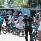 BMX riders getting ready to session tat he Evals Jam 2017