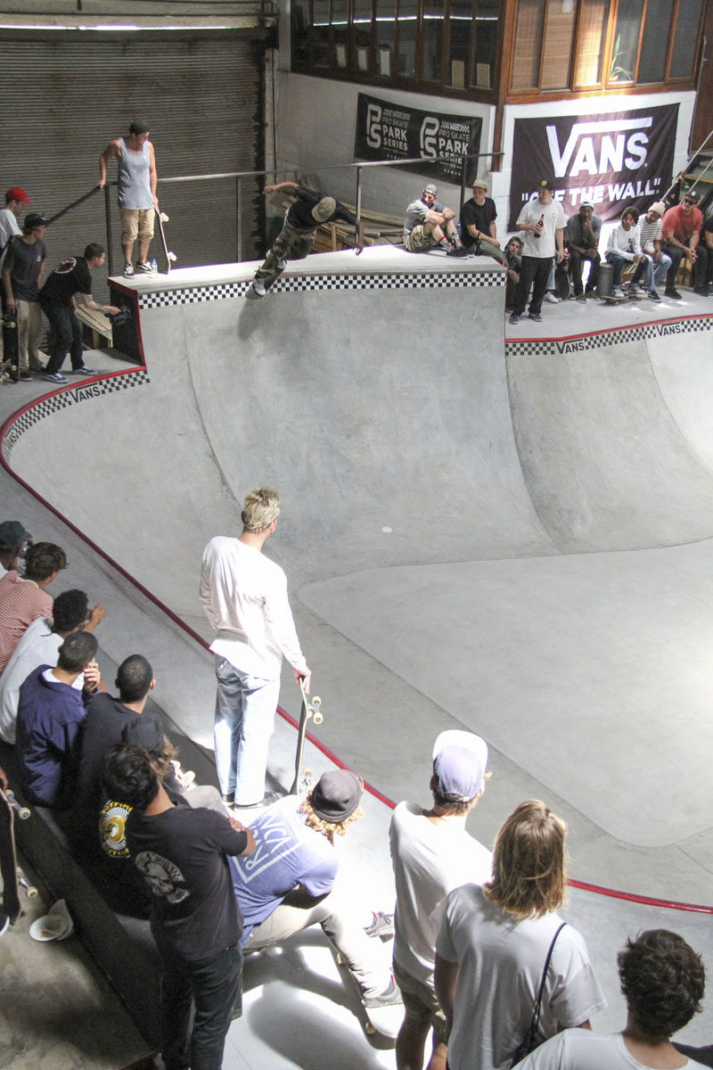 Skateboarding action at The Shred Indoor Skatepark