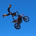 Mike Oyston riding at the Jungle Rush FMX compound