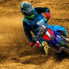 Tristan Purdon winning the MX1 class at Round 1 of the MX Nationals