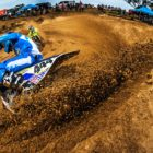 Caleb Tennant racing to 2nd place at the MX Nationals at Rover MX