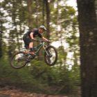 Enduro MTB rider Samm Bull riding in the KZN forests