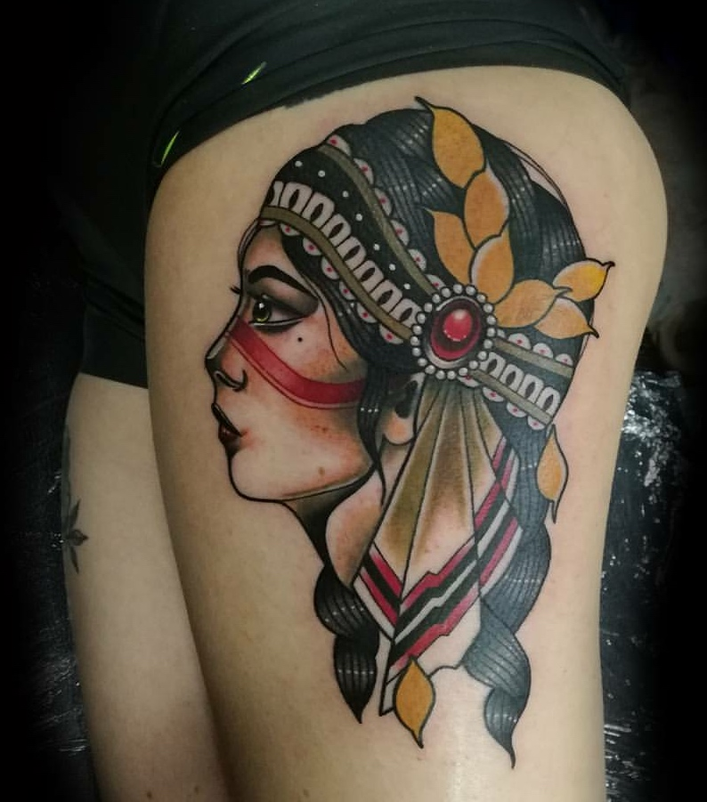 Tattoo work created by Phillip Wells