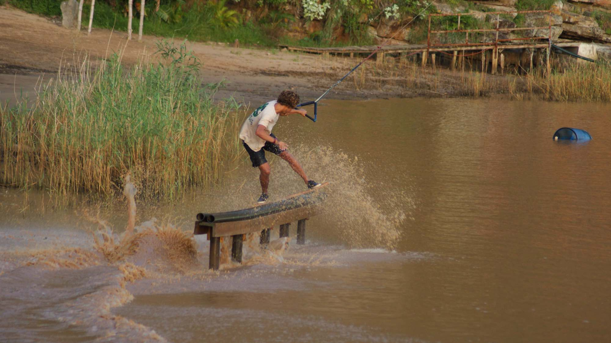 Matti Buys wake skating his way to victory at the 2018 Backyard Sessions