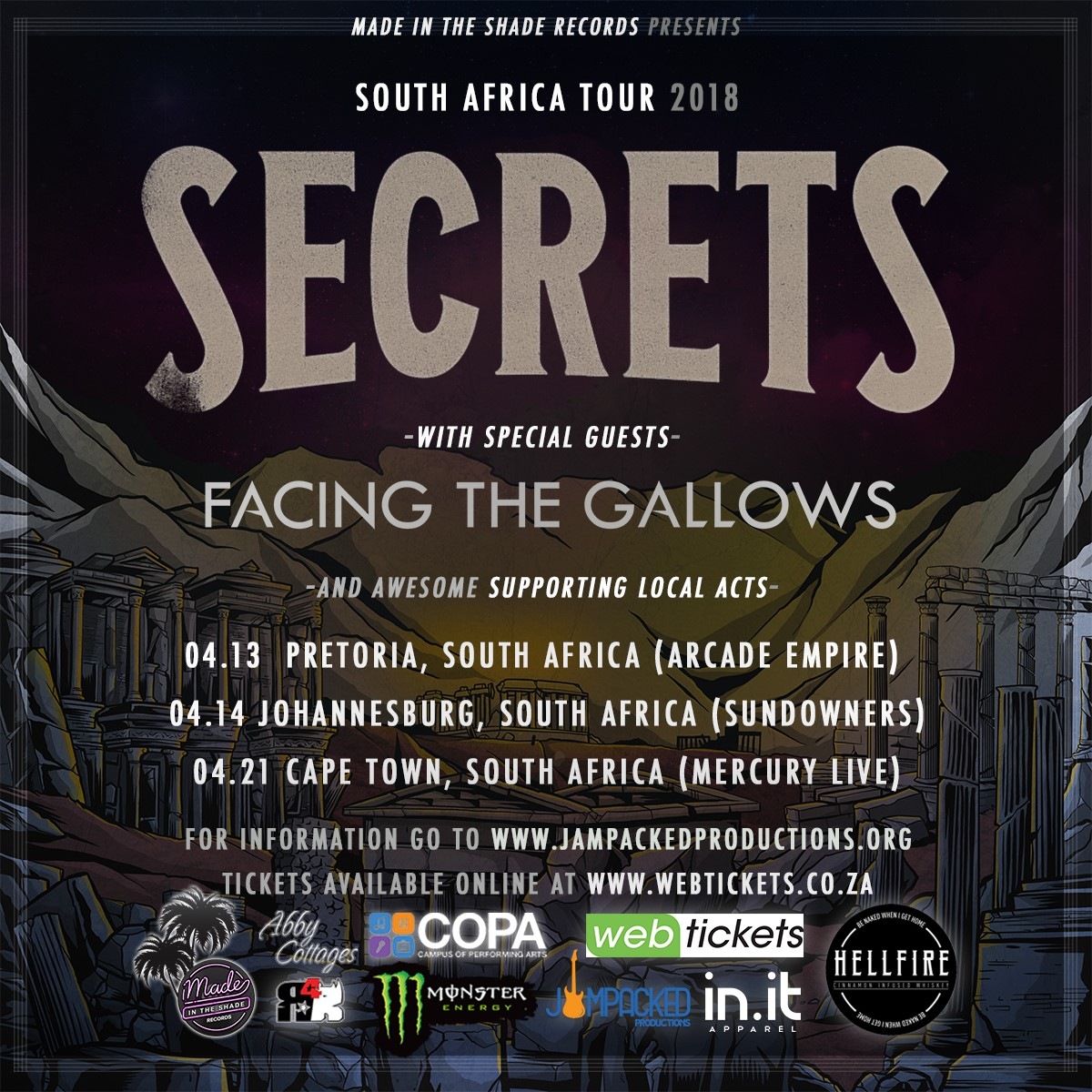 Secrets World Tour posts for the South Africa stops
