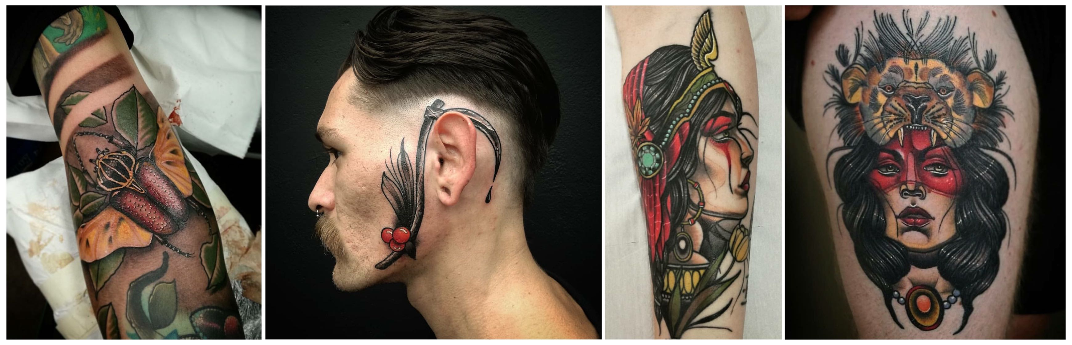 A selection of tattoos by Phillip Wells