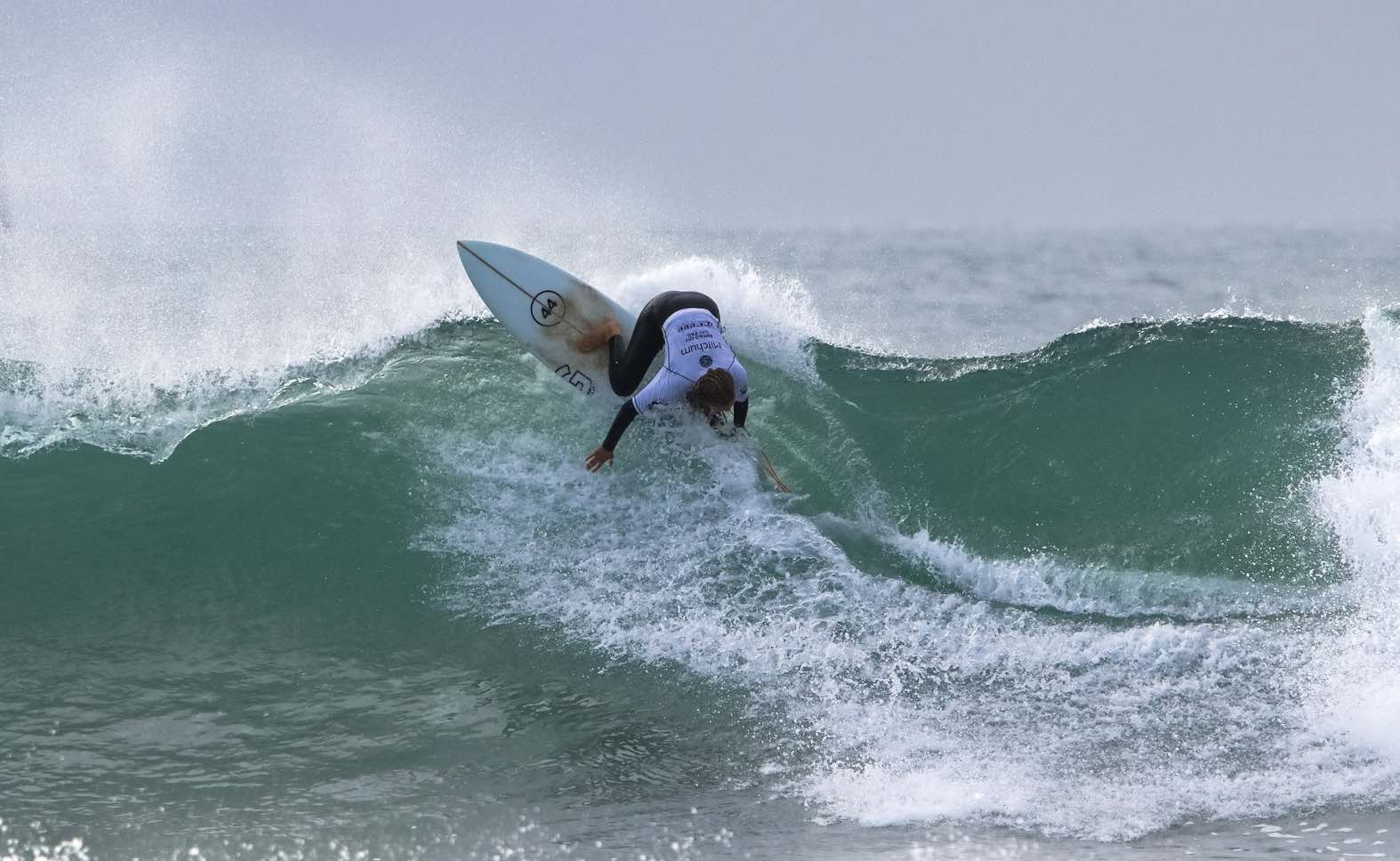 Kai Woolf surfing her way to victory at the Mitchum Buffalo City Surf Pro