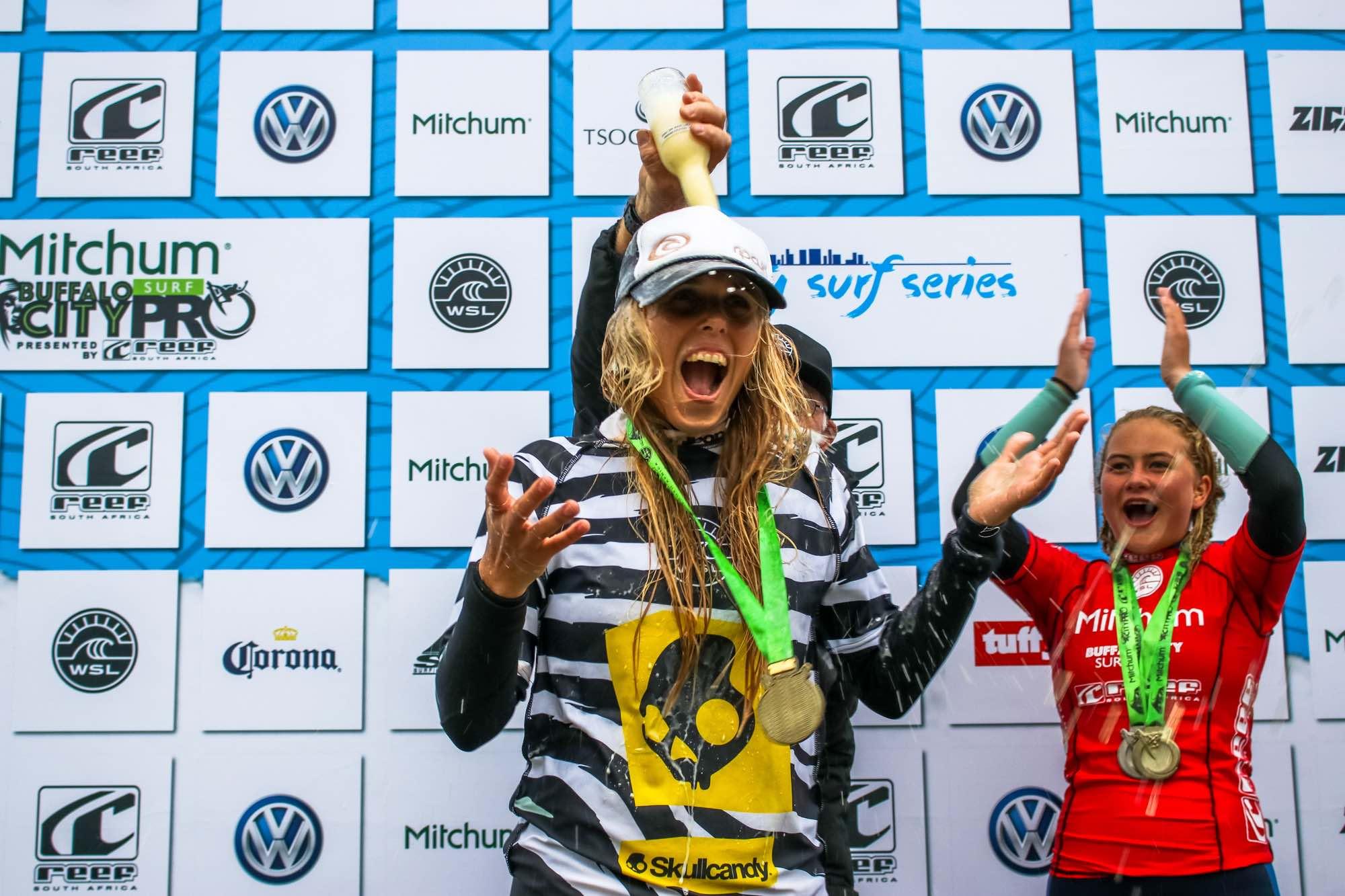 Mitchum Buffalo City Surf Pro Women's Podium