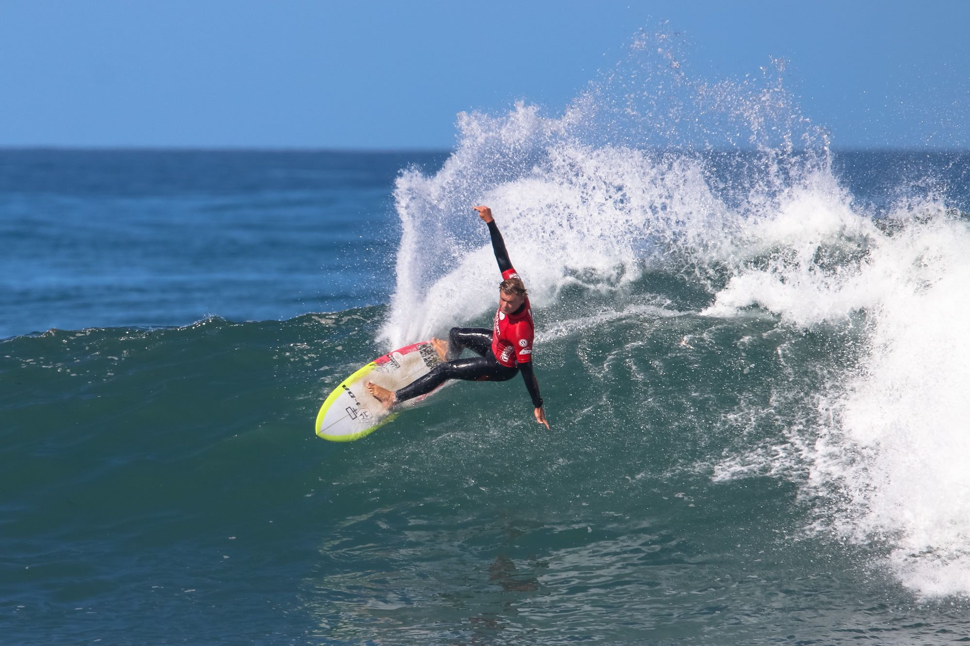 Dale Staples surfing his way to victory at the Mitchum Buffalo City Surf Pro