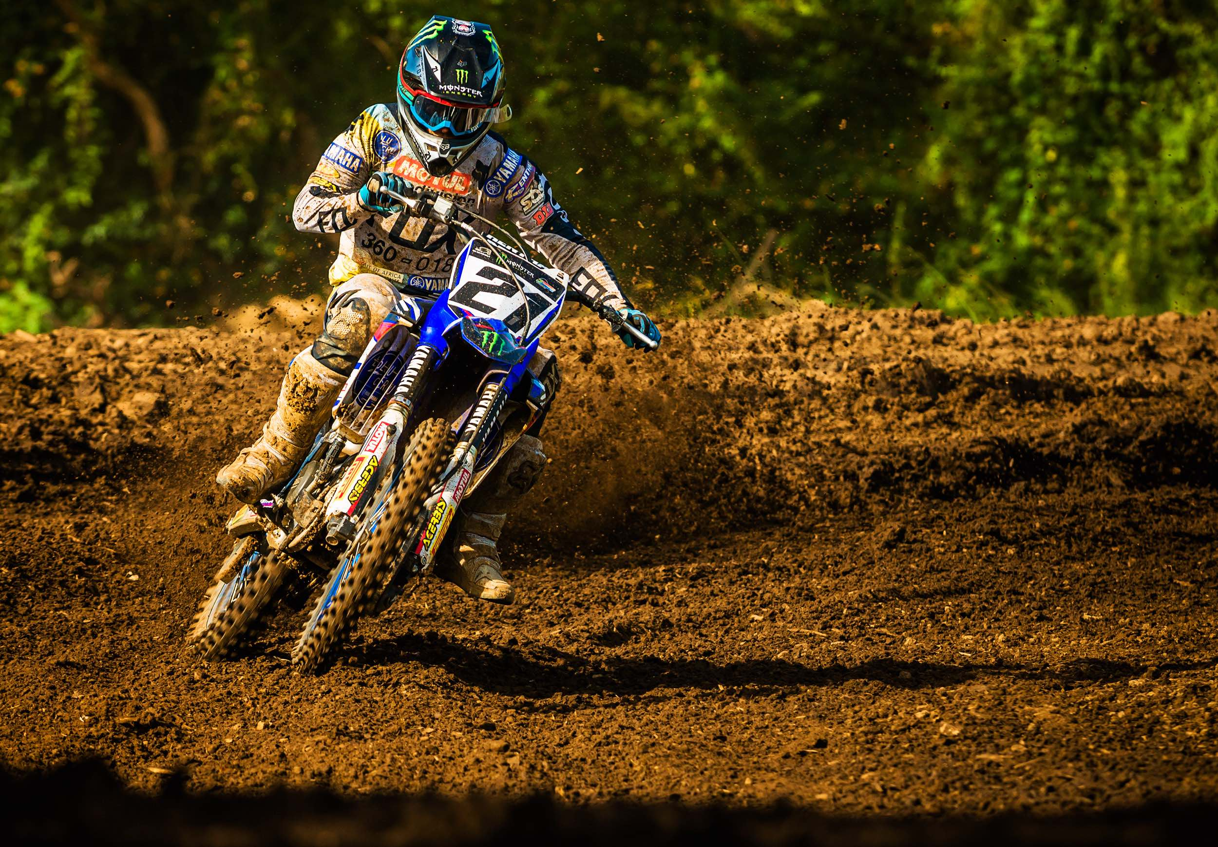 David Goosen with a convincing 2nd place in the MX2 Class at the Motocross Nationals