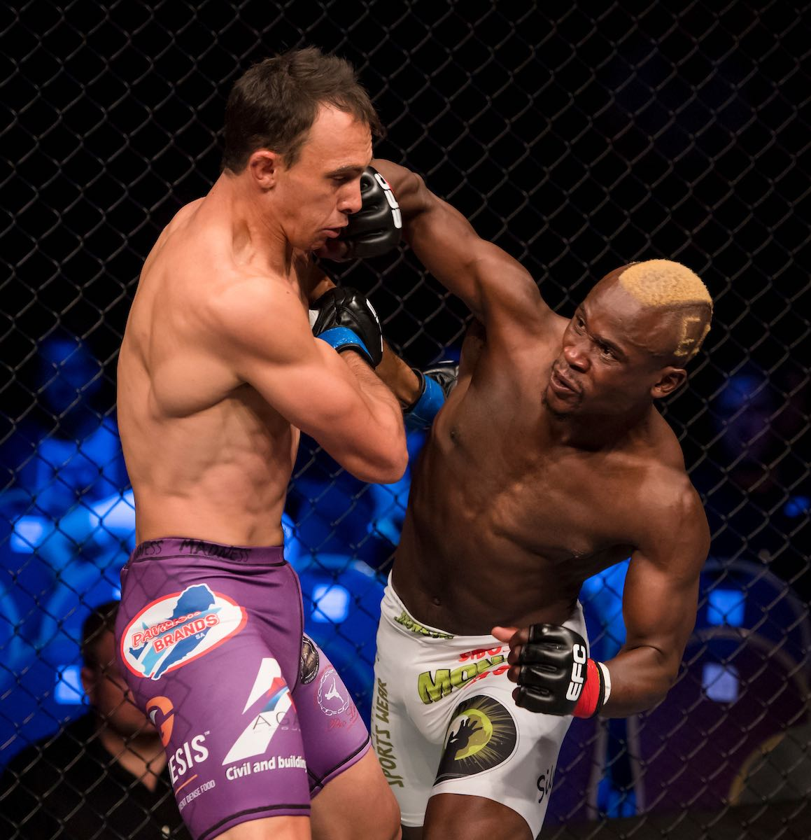 Results from all nine Mixed Martial Arts fight from EFC 69 at Carnival City