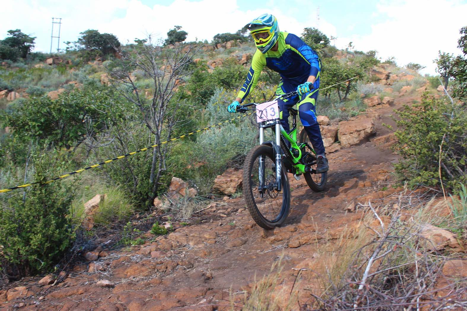 Downhill MTB action from the 2018 SA Champs