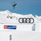 Sarah Höfflin winning the Women's Skier Big Air at The Audi Nines