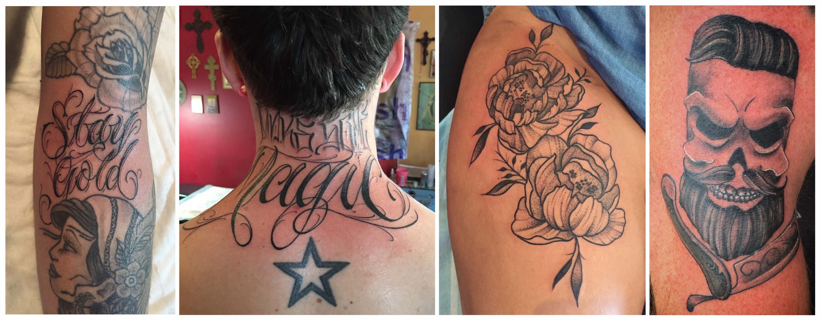 A selection of tattoos done by Duran Niemach