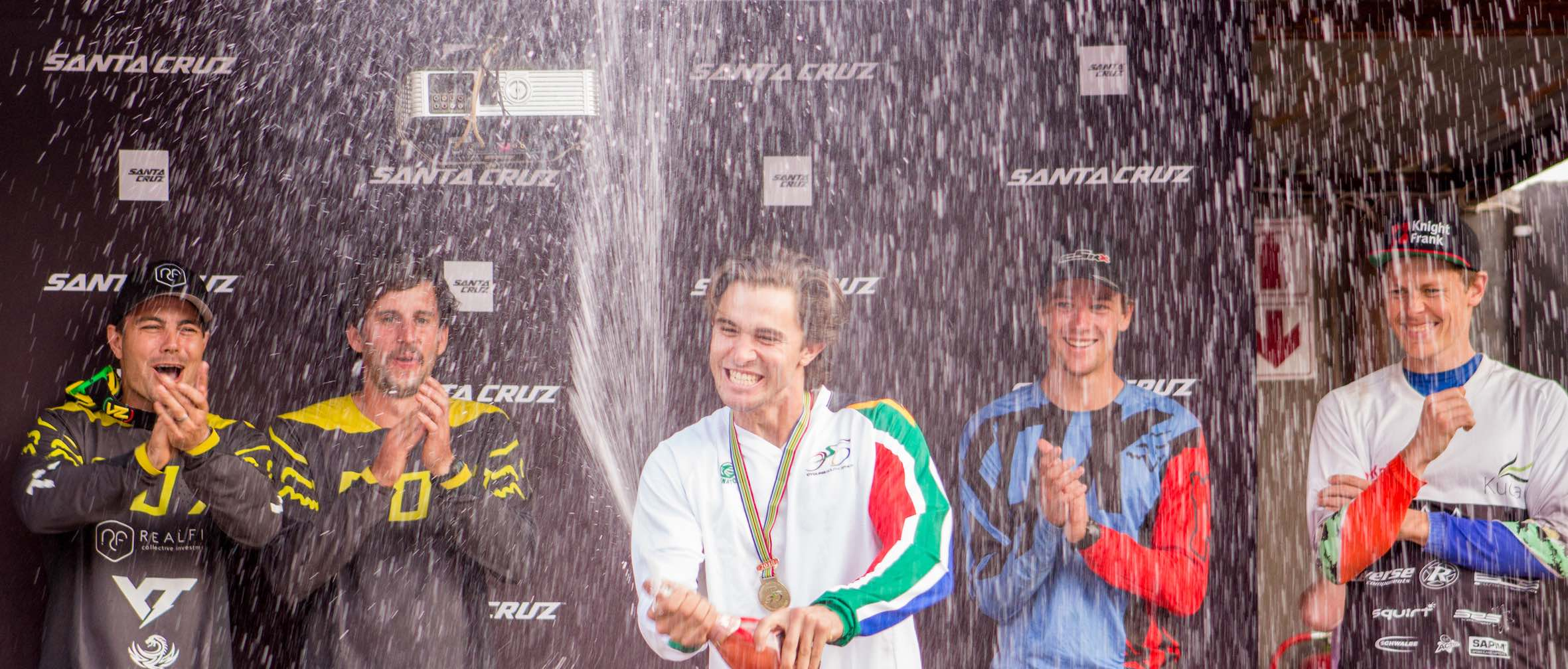 Theo Erlangsen winning the 2018 SA Downhill MTB Championships
