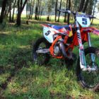 The KTM 125 SX motocross machine
