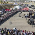 The masses enjoying the stunt shows at the 2018 SA Bike Fest