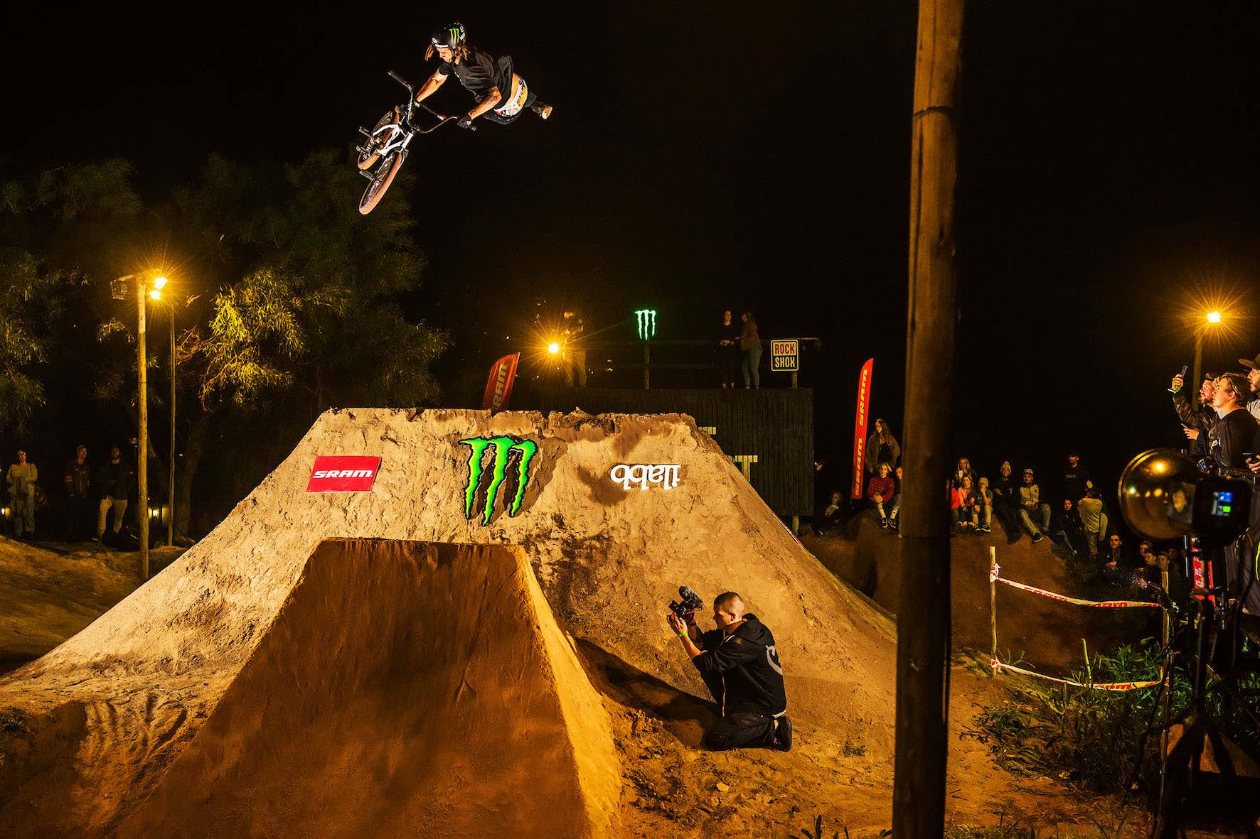 Pat Casey showing his BMX Skills during the Night Harvest