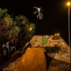 Adolf Silva winning the night harvest MTB best trick award