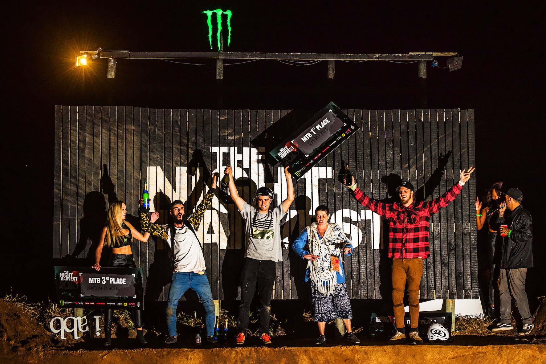 The Night Harvest 2018 MTB Podium