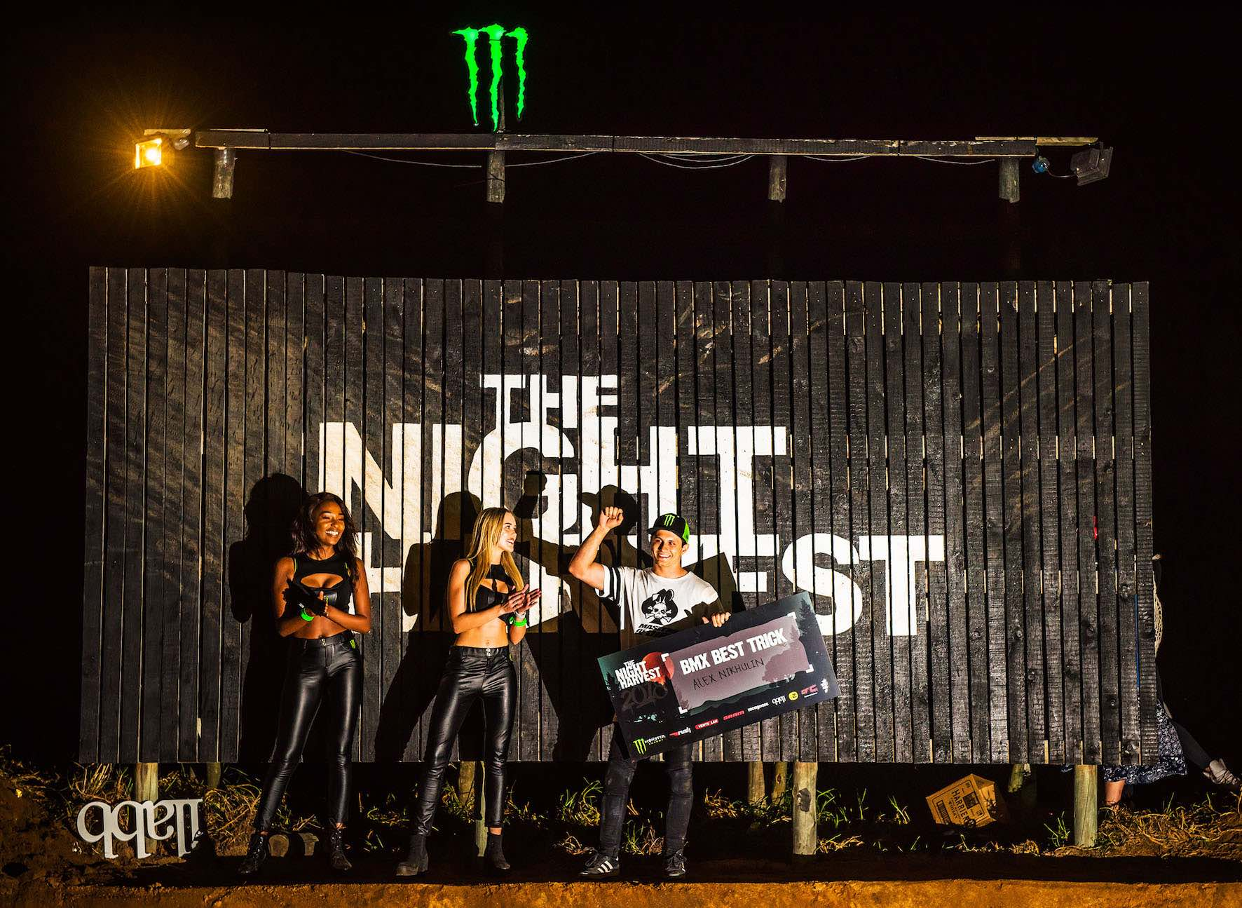 The Night Harvest 2018 BMX best trick podium