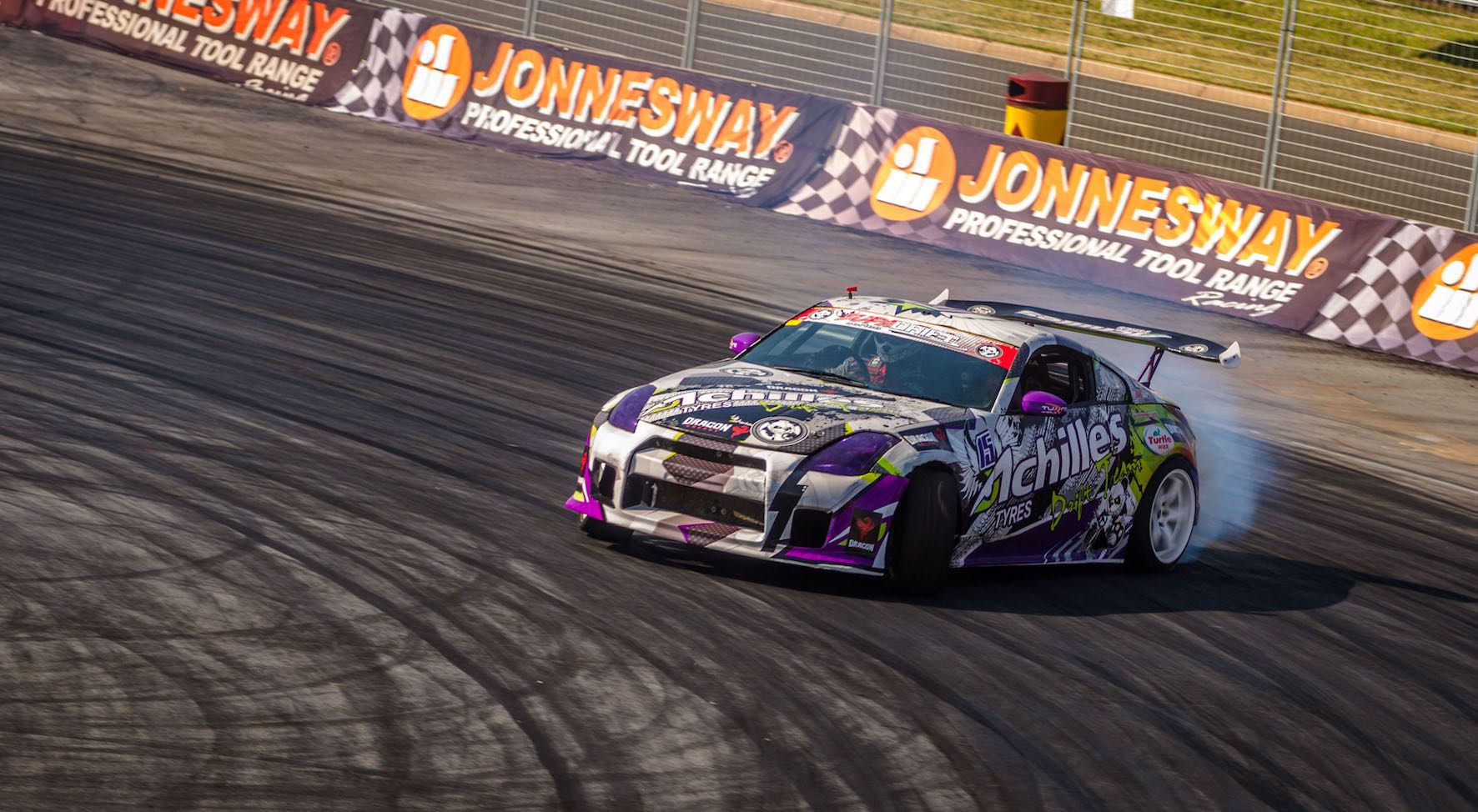 Jim Mc Farlane drifting his way to 2nd place at Round 1 of the 2018 Supadrift Series